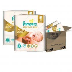 Pampers Premium Care Dětské pleny velikost 1+2 měsíční balení 168 ks