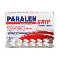 Paralen Grip chřipka a bolest 12 tablet