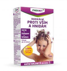 Paranit Radikální sprej 100 ml + hřeben + šampon 100ml ZDARMA