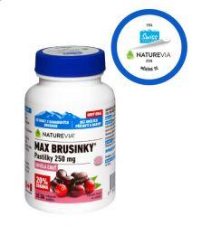 Swiss NatureVia Max brusinky 250 mg 30+6 pastilek