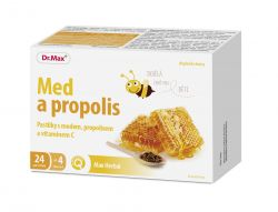 Dr.Max Pastilky Med a propolis 24 pastilek