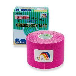 TEMTEX Kinesio tape Tourmaline 5 cm x 5 m tejpovací páska růžová