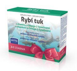 Biotter Rybí tuk s vitamíny a Omega-3 kyselinami 3x60 kapslí