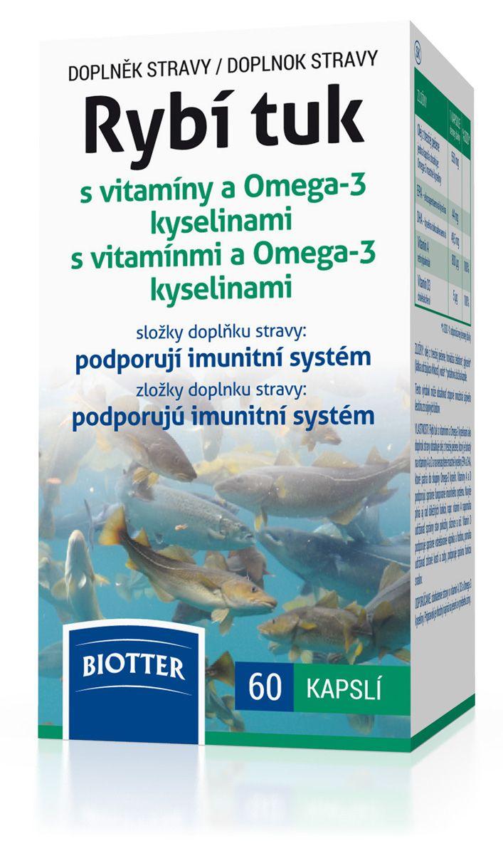 Biotter Rybí tuk s vitamíny a Omega-3 kyselinami cps.60