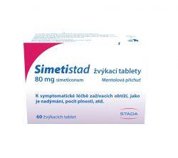 Simetistad 80 mg 60 žvýkacích tablet