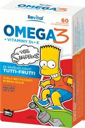 The Simpsons Omega 3 + vitaminy D a E 60 kapslí