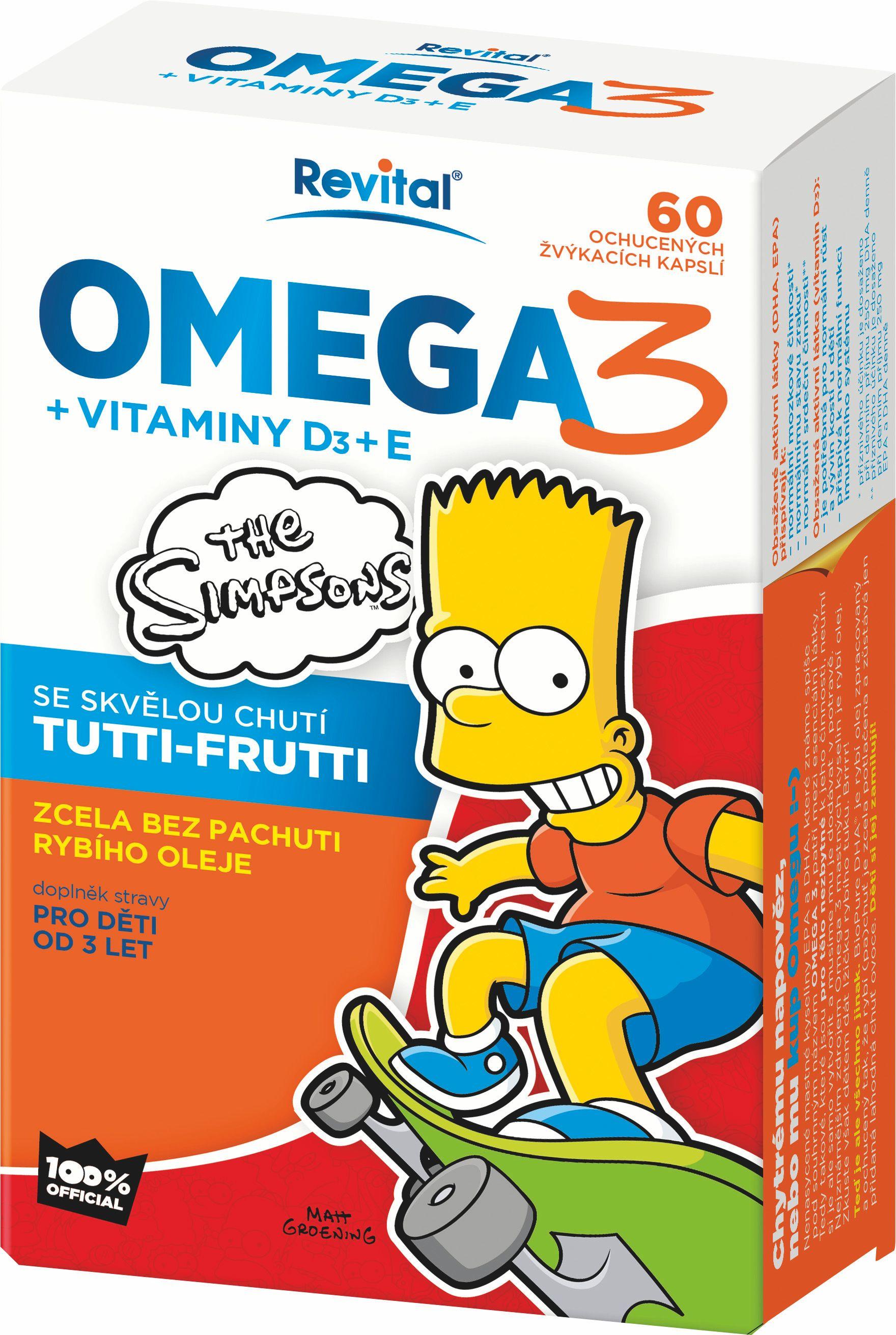The Simpsons Omega 3 + vitaminy D a E 60 kapslí