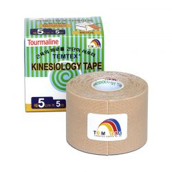 TEMTEX Kinesio tape Tourmaline 5 cm x 5 m tejpovací páska béžová
