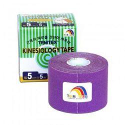 TEMTEX Kinesio tape 5 cm x 5 m tejpovací páska fialová