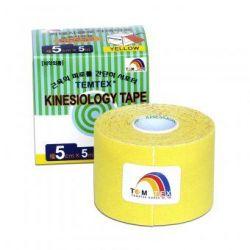 TEMTEX Kinesio tape 5 cm x 5 m tejpovací páska žlutá
