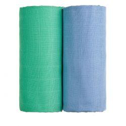 T-tomi Látkové TETRA osušky 100x90 cm 2 ks modrá + zelená