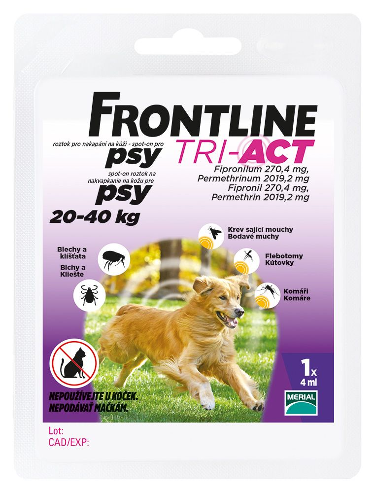 FRONTLINE Tri-Act psi 20-40kg spot-on 1x1 pipeta