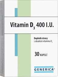 Generica Vitamin D3 400 I.U. 30 kapslí