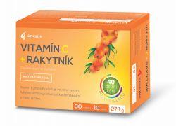 Vitamín C + Rakytník 30+10 tablet