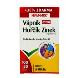 Walmark Vápník Hořčík Zinek OSTEO 100+30 tablet