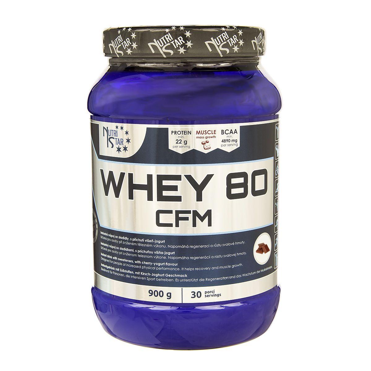 Nutristar WHEY 80 CFM 900 g čokoláda  8f66405e37