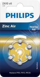 Philips ZA10B6A/00 baterie do naslouchadel 6 ks