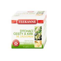Teekanne Dýchací cesty a krk se zázvorem bylinný čaj 10x2 g