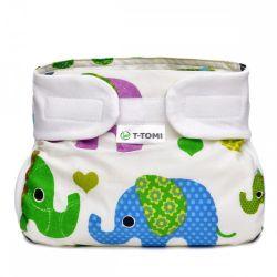 T-tomi Ortopedické abdukční kalhotky 3-6 kg 1 ks zelení sloni