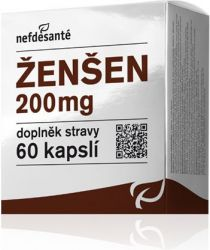 Nefdesanté Ženšen 200 mg 60 kapslí